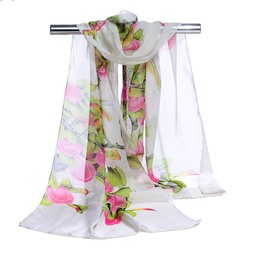 Ericdress 2019 New Fashion Chiffon Floral Scarf