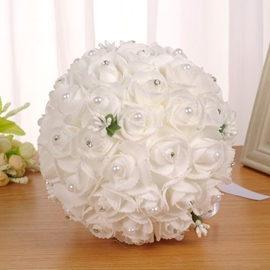 Fabric European Rose Wedding Decorating Flowers