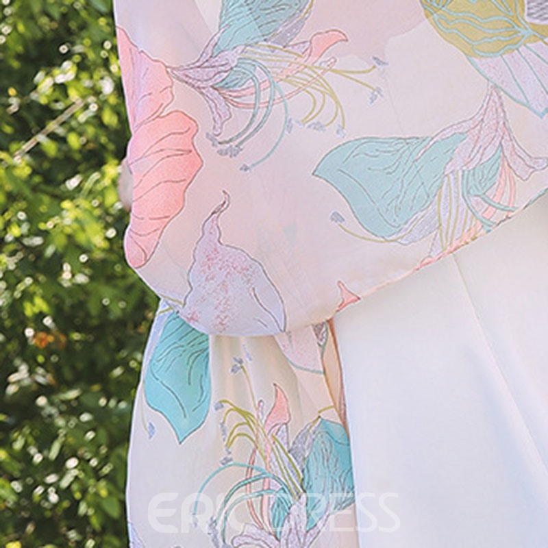 Ericdress Chiffon New Style Floral Scarf