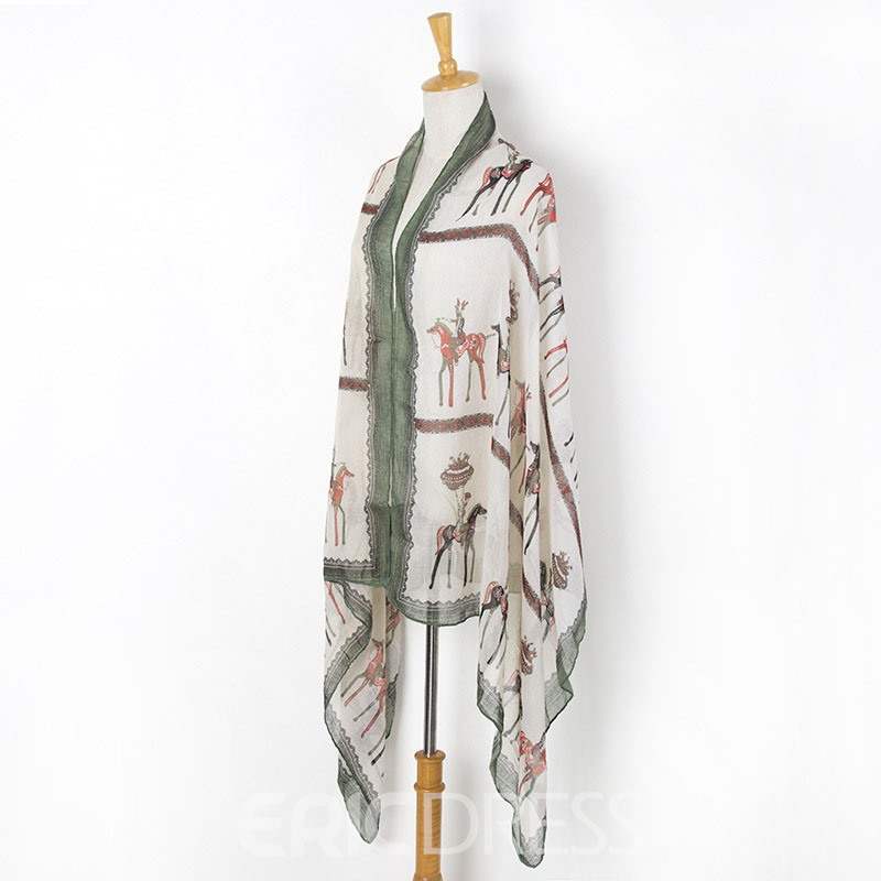 Ericdress Shawl Animal Style Cartoon Scarves