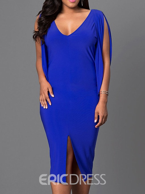 Ericdress Plus Size Sleeveless Mid-Calf Mid Waist Pullover Dress