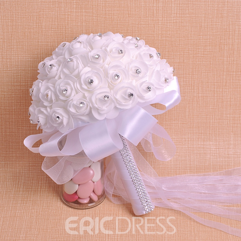 Fabric European Beading Rose Wedding Decorating Flowers