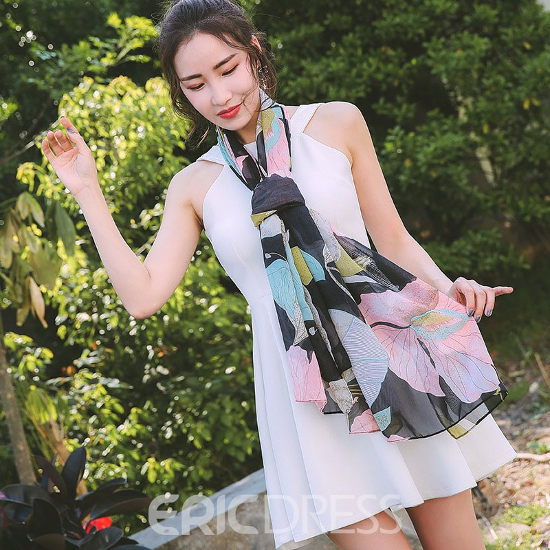 Ericdress Chiffon 2019 New Style Floral Scarf