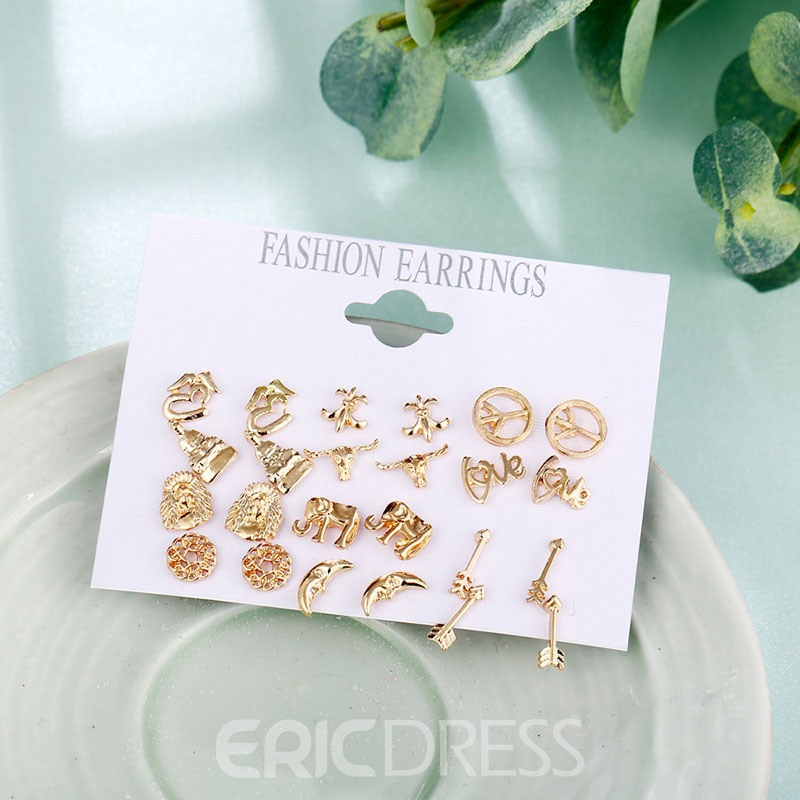Ericdress Alloy Stud Earrings Set