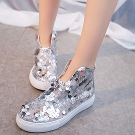 Ericdress Sequin Round Toe Slip-On Women's Casual Flats