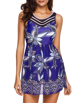 Ericdress Plus Size Floral Beach Look Print Swimwear