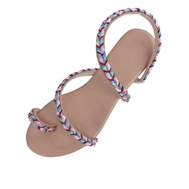 Ericdress Woven Toe Ring Slip-On Women's Flat Sandals