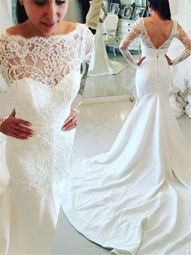 Ericdress Lace Mermaid Church Wedding Dress 2019
