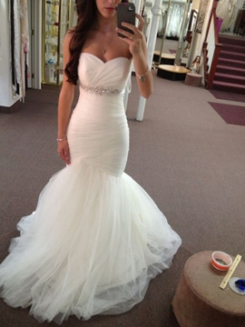 Ericdress Pleats Sweetheart Mermaid Wedding Dress