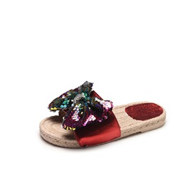 Ericdress Sequin Flip Flop Women's Flat Sandals