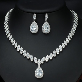 Earrings Diamante European Jewelry Sets (Wedding)