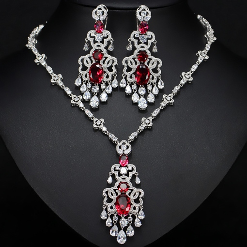 EricdressNecklace Diamante European Jewelry Sets (Wedding)