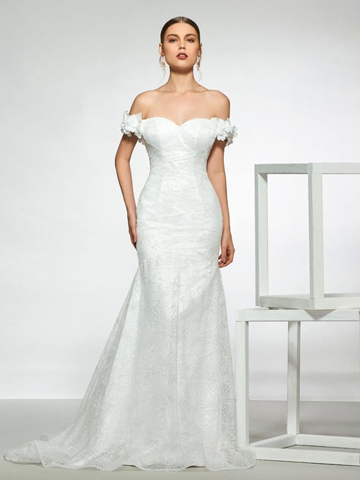Ericdress Lace Off-The-Shoulder Mermaid Wedding Dress