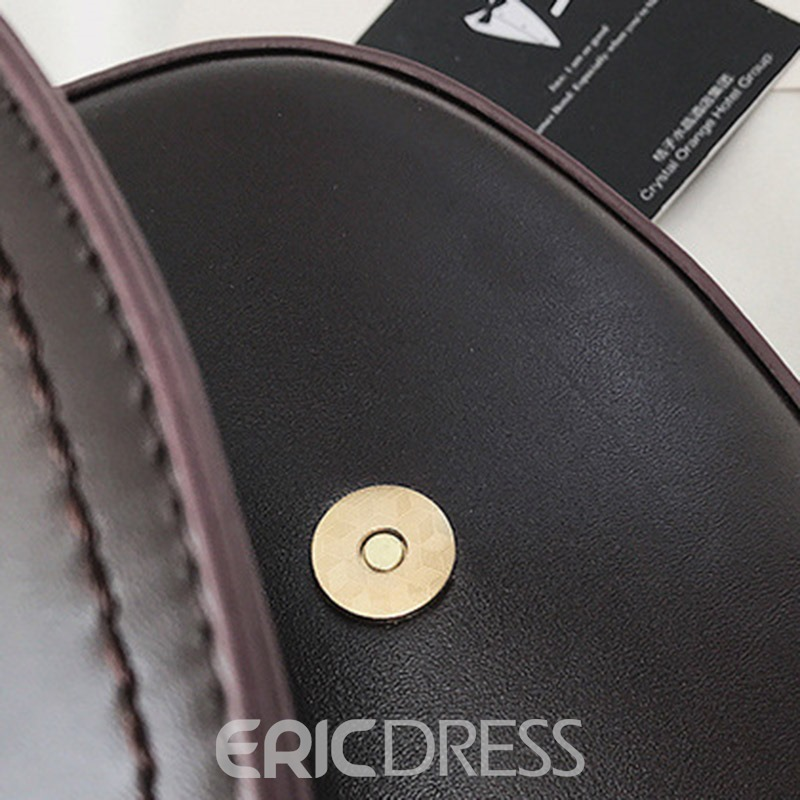 Ericdress Plain PU Saddle Soft Crossbody Bags