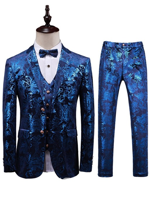 Ericdress Formal Single-Breasted Floral Dress Suit