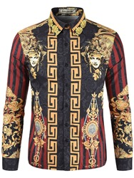 Ericdress African Fashion Dashiki Ethnic Mens Print Shirt фото