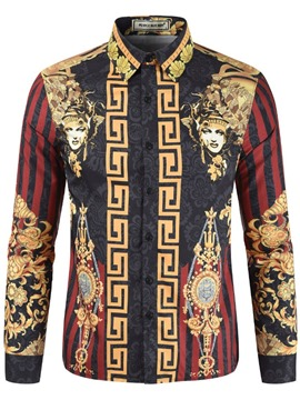 Ericdress African Fashion Dashiki Ethnic Mens Print Shirt