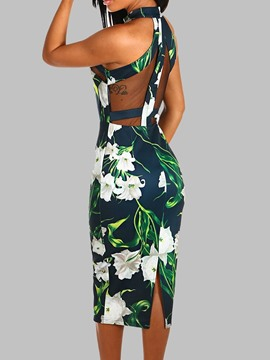 Ericdress Sleeveless Print Summer Dress
