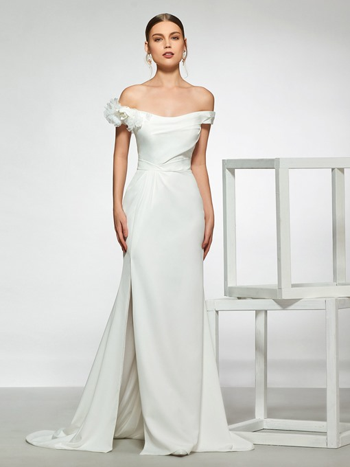 Ericdress Split-Front Off-The-Shoulder Wedding Dress
