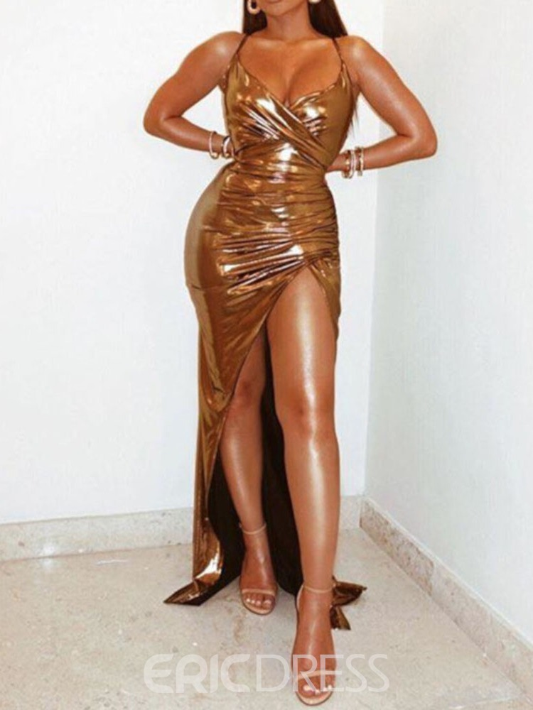 Ericdress Ankle-Length Spaghetti Straps Sexy Dress