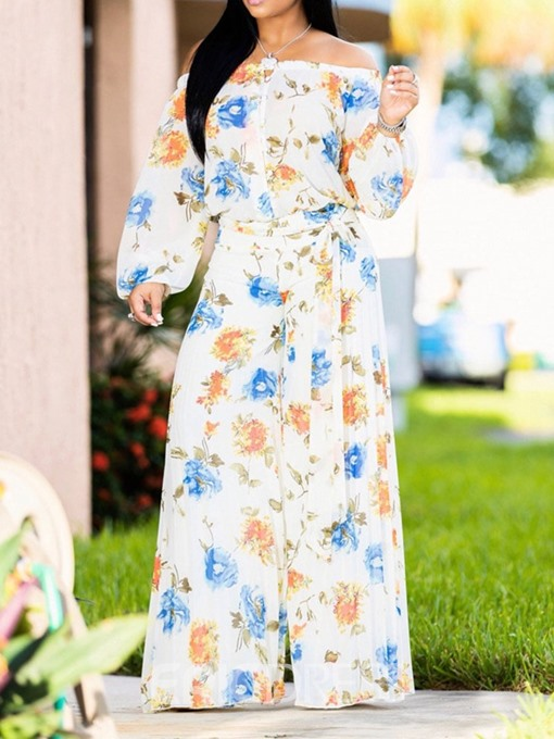 Ericdress Pleated Full Length Casual Wide Legs High Waist Jumpsuit
