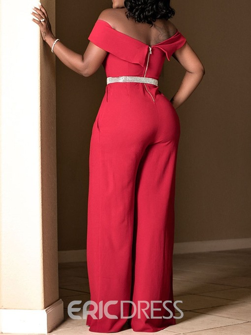 Ericdress Full Length Plain Fashion Wide Legs Jumpsuit