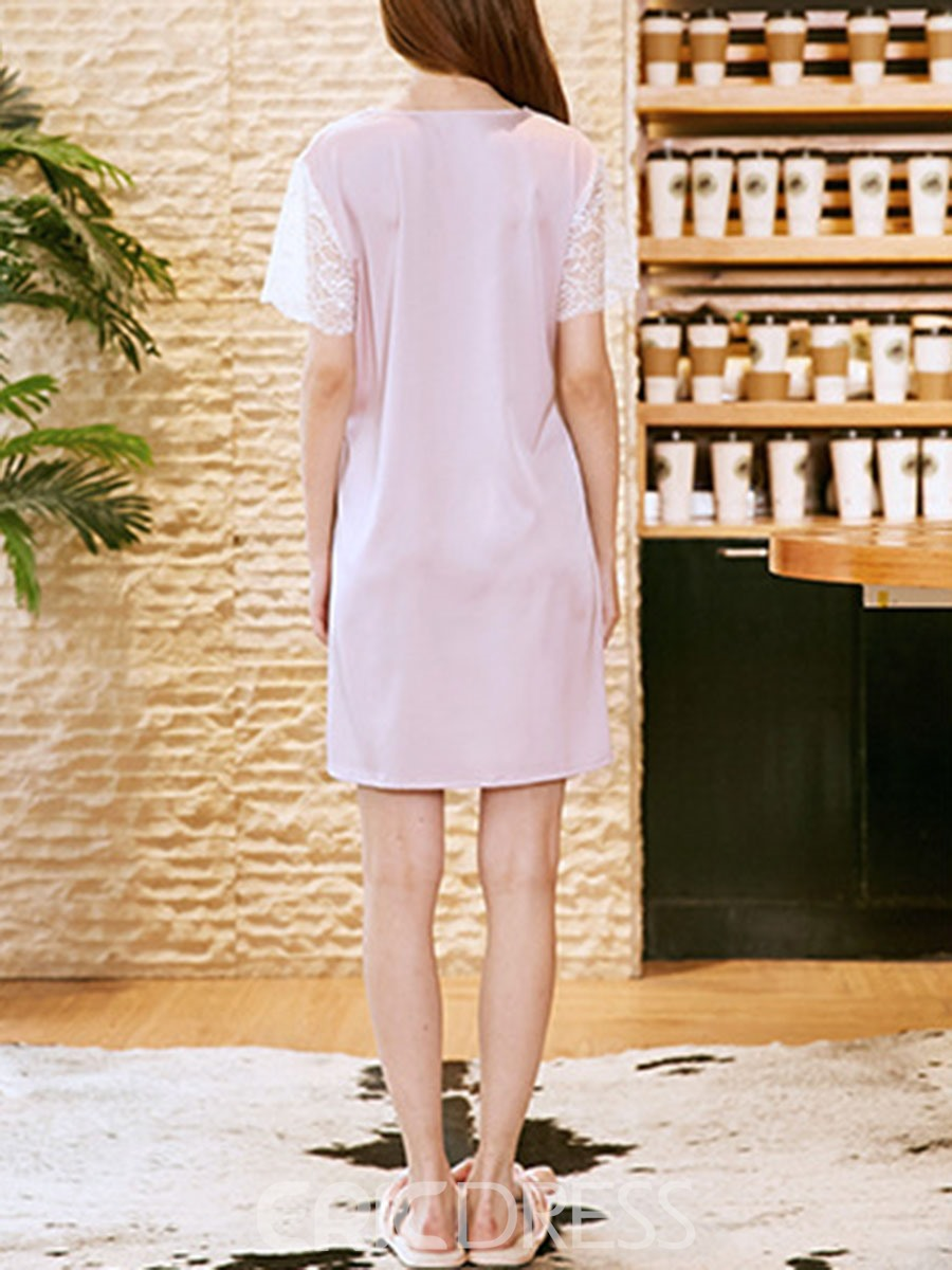Ericdress Single Regular Plain Above Knee Casual Nightgowns