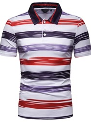 Ericdress Striped Mens Casual Polo Shirts фото