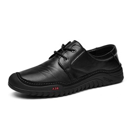 Ericdress Plain Round Toe Lace-Up Men's Comfortable Shoes