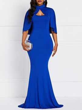Ericdress Mermaid Floor-Length V-Neck Sleeveless Elegant Dress