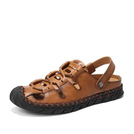 Ericdress Plain Hollow Slip-On Men's Casual Sandals