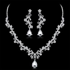 Necklace European Gemmed Jewelry Sets (Wedding)