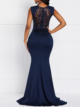 Ericdress Lace Floor-Length Sleeveless Elegant Regular Cocktail Dress