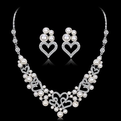 Necklace European Heart-Shaped Jewelry Sets (Wedding)