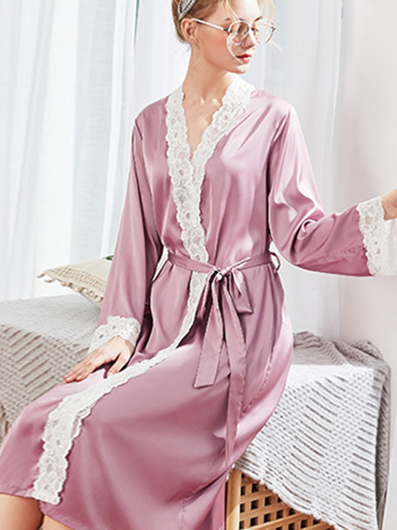 Ericdress Lace Long Sleeve Sexy Night-Robes