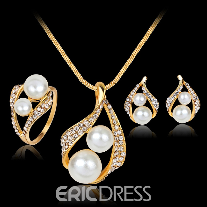 Necklace European Pearl Inlaid Jewelry Sets (Wedding)