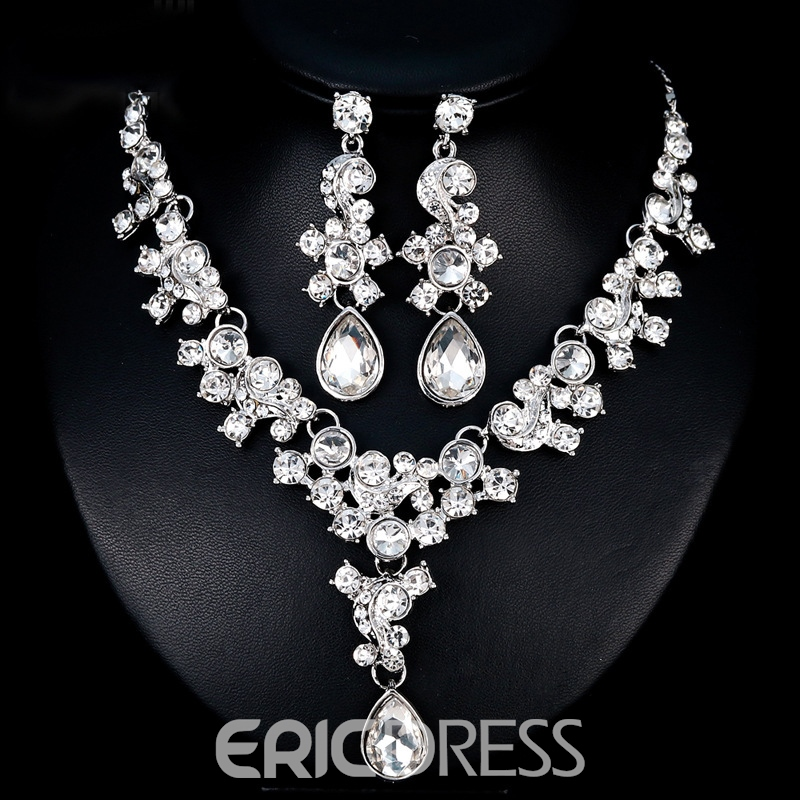 gemmed halskette ohrringe european jewelry sets (hochzeit)