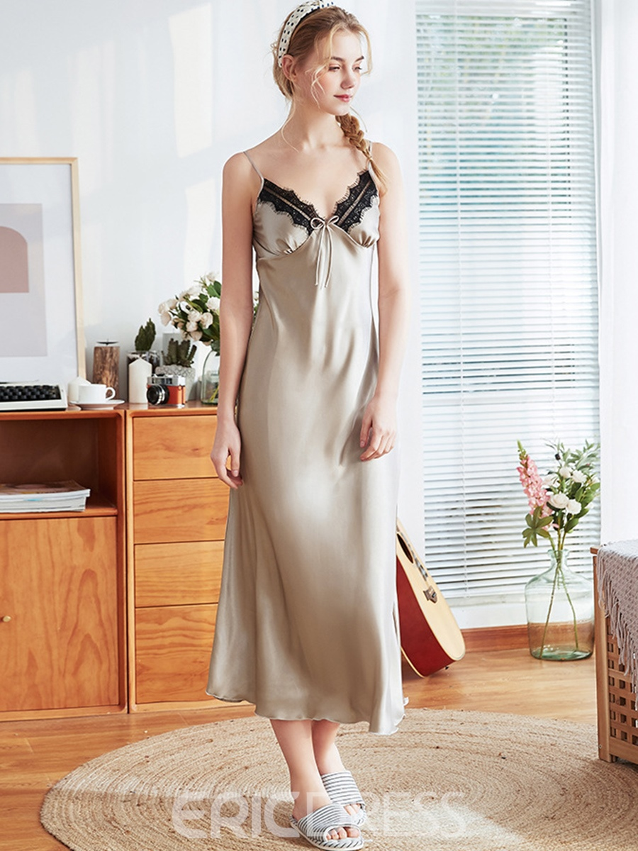 Ericdress Patchwork Mid-Calf Sleeveless Nightgowns
