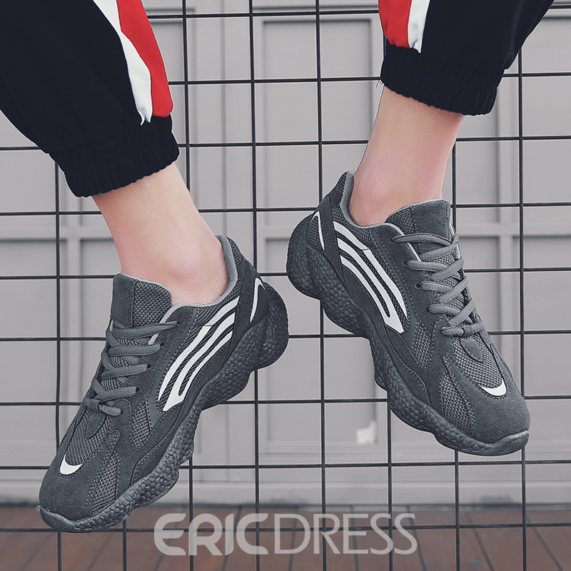 Ericdress Mesh Lace-Up Men's Outdoor Sneakers