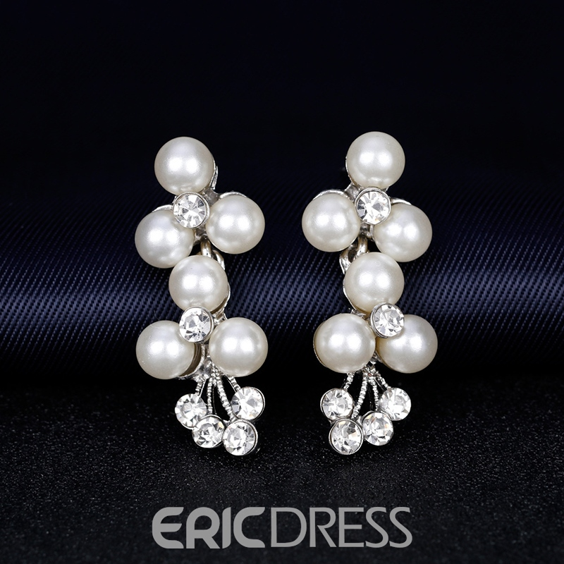 European Necklace Pearl Inlaid Jewelry Sets (Wedding)