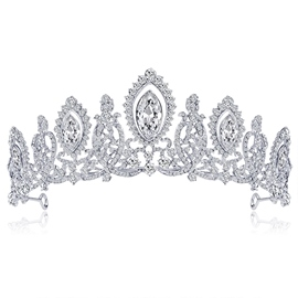Gemmed Crown Tiara Hair Accessories (Wedding)