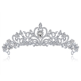 Crown European Gemmed Hair Accessories (Wedding)