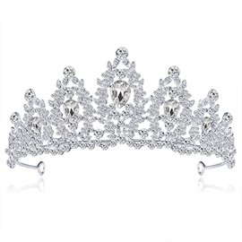 Rhinestone Crown European Tiara Hair Accessories (Wedding)