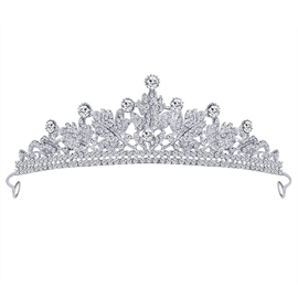 Gemmed Tiara Crown Hair Accessories (Wedding)