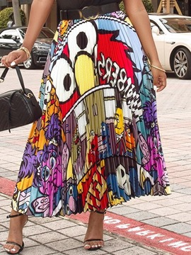 Ericdress Pleated Cartoon Mid-Calf Causal Skirt