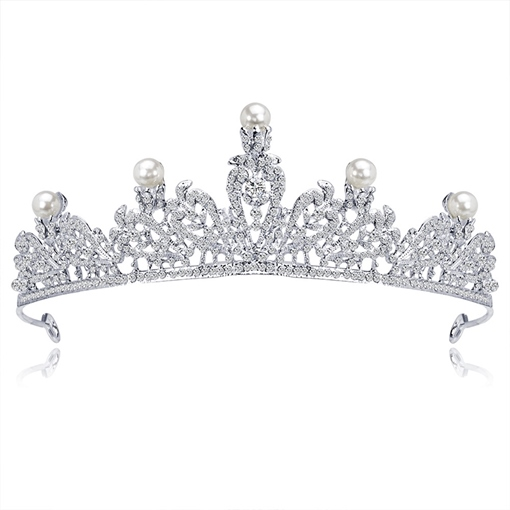 Pearl Inlaid Tiara European Hair Accessories (Wedding)