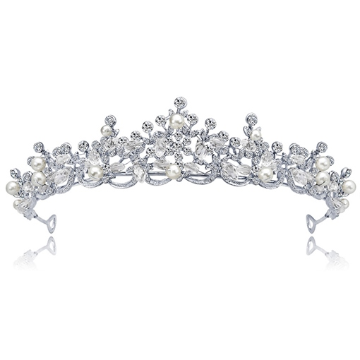 Tiara Pearl Inlaid European Hair Accessories (Wedding)