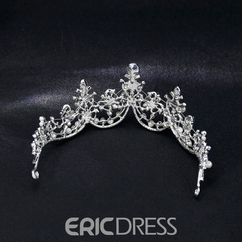 Rhinestone Pearls Wedding Tiara