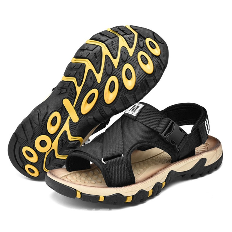 Ericdress Letter Print Velcro Men's Sandals