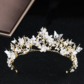 Pearl Inlaid Crown European Hair Accessories (Wedding)